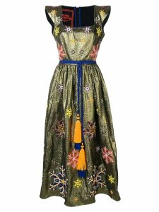 Yuliya Magdych Snowflakes embroidered dress - Gold