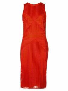 Tadashi Shoji striped pattern midi dress - Red