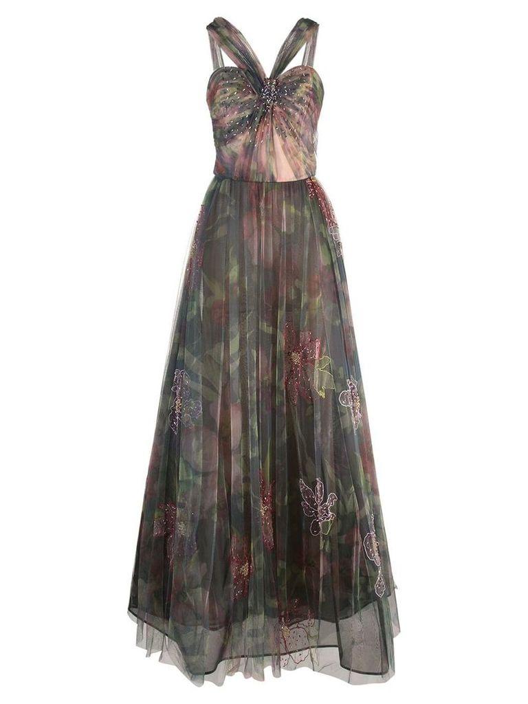 Patbo floral tulle dress - Multicolour