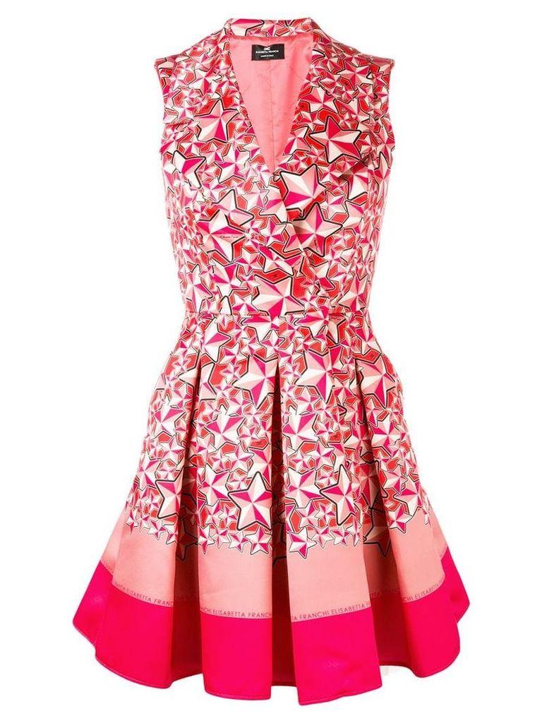 Elisabetta Franchi star print flared mini dress