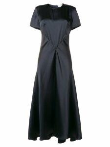 Sportmax long drape dress - Blue