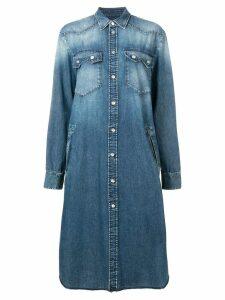 Mm6 Maison Margiela denim shirt dress - Blue