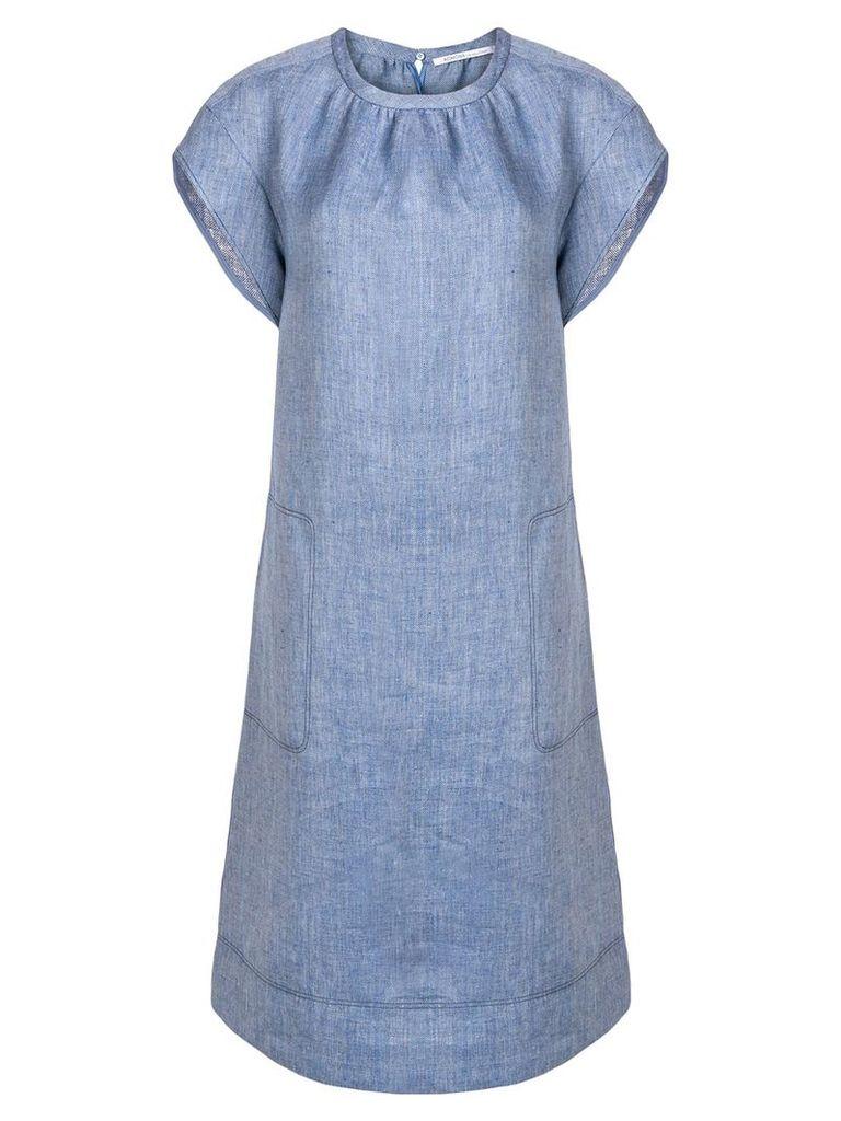 Agnona midi denim look dress - Blue