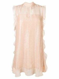 Red Valentino sheer ruffles dress - Neutrals