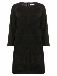 Closed panelled shift dress - Black