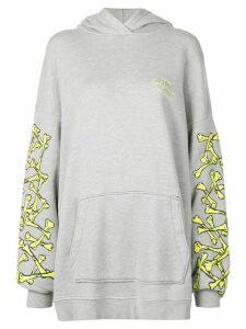 Amiri bones print hoodie dress - Grey