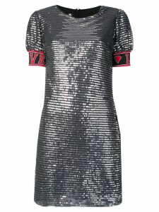 Love Moschino love metallic dress - Silver
