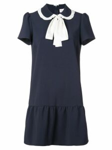 Red Valentino tied collar mini dress - Blue