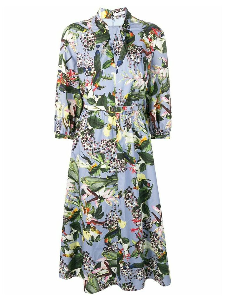 Erdem Adrienne printed dress - Blue