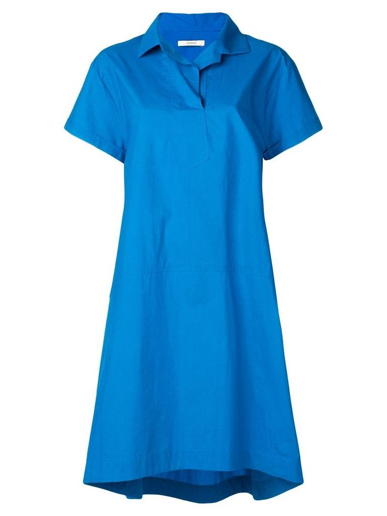 Odeeh loose polo shirt dress - Blue