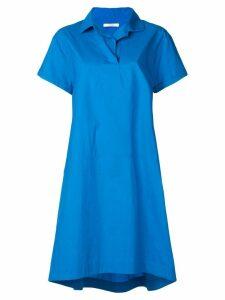 Odeeh loose polo shirt dress - Blue