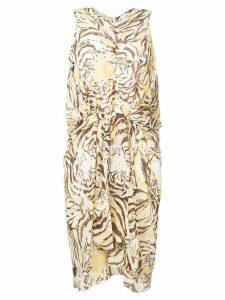 See By Chloé tiger print dress - Yellow