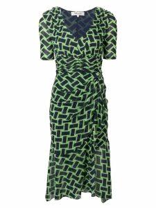 Diane von Furstenberg Farrell printed dress - Green