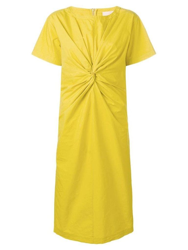 Erika Cavallini knot midi dress - Yellow