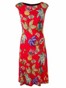Etro floral-print dress - Red