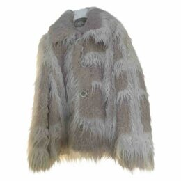 Faux fur caban