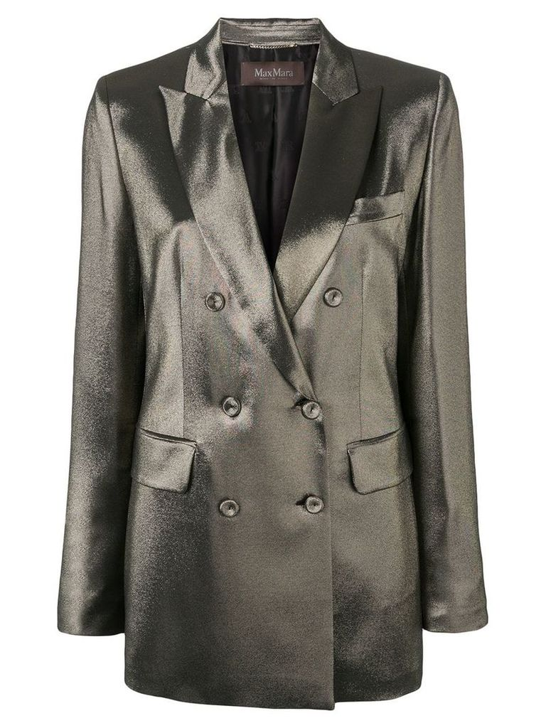 Max Mara double buttoned blazer - Gold