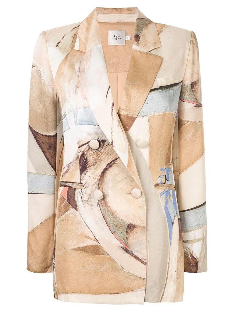 Aje Downing printed blazer - Multicolour