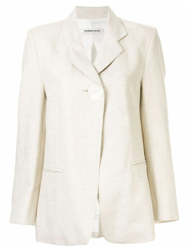 Georgia Alice Boy button blazer - Neutrals