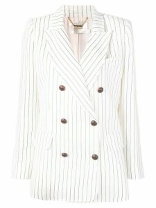 Zimmermann stripe print blazer - White