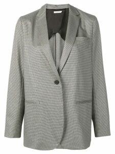 6397 houndstooth print blazer - Grey