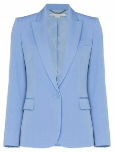 Stella McCartney padded shoulder fitted blazer jacket - Blue