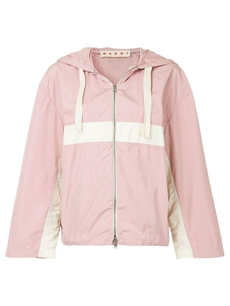 Marni colour-block hooded jacket - Pink