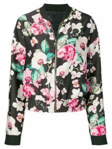 Philipp Plein floral print bomber jacket - Black