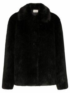 Toteme collared faux fur jacket - Black