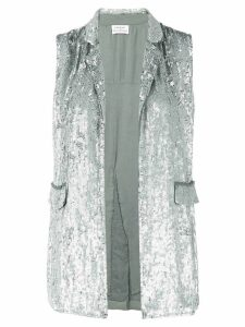 P.A.R.O.S.H. sequinned gilet - Silver