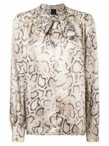 Pinko snake print blouse - Brown