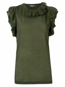 Dsquared2 frill trim sleeveless top - Green