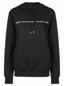 Helmut Lang logo hooded sweatshirt - Black