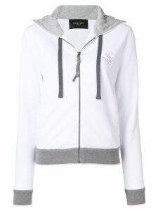 Mr & Mrs Italy contrast trim hoodie - White
