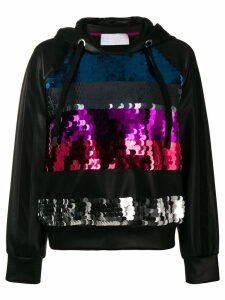 No Ka' Oi sequinned stripes hoodie - Black