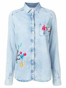 Mira Mikati fairytale embroidered denim shirt - Blue