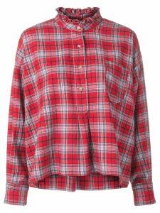 Isabel Marant Étoile classic plaid shirt - Red
