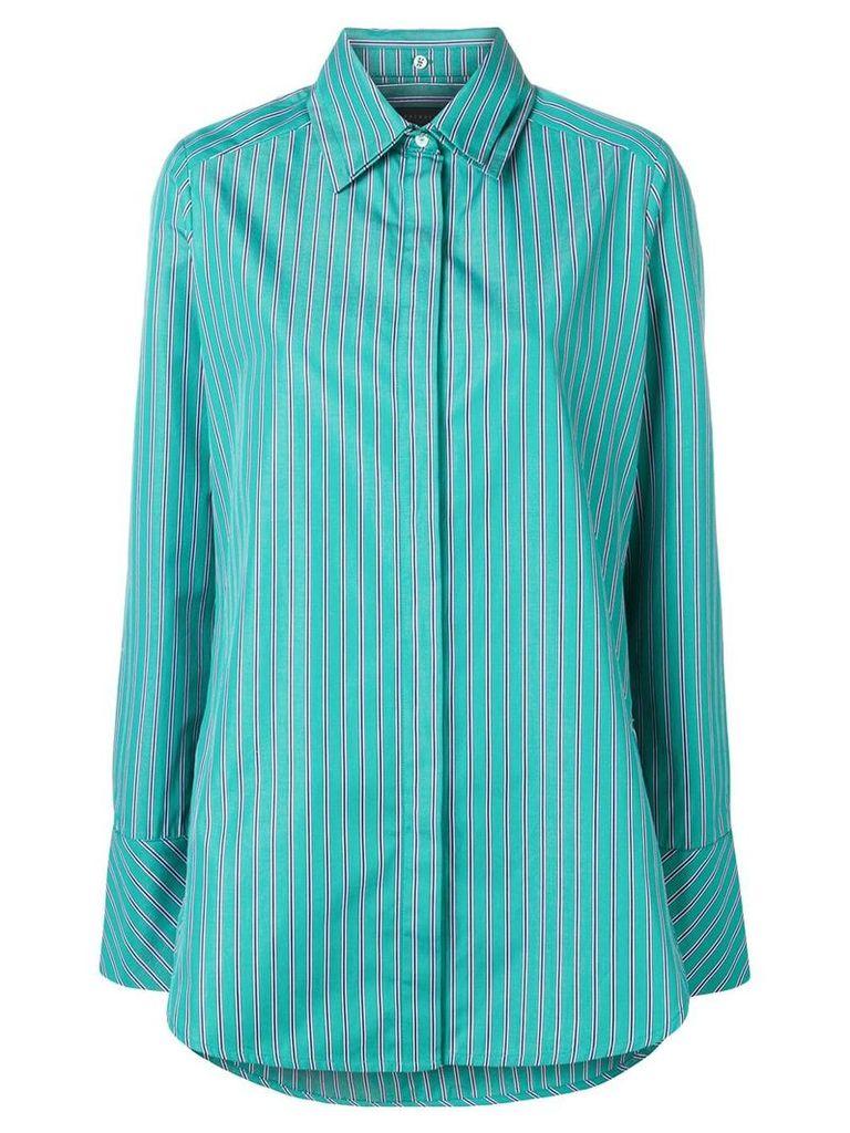 Frenken screen stripe poplin shirt - Green