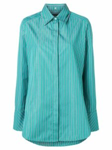 Frenken screen stripe poplin shirt - Green