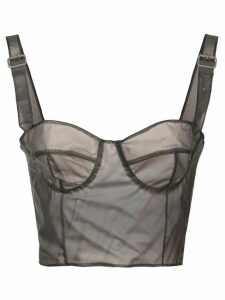 Maison Margiela cropped bustier top - Grey