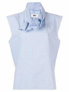 Mm6 Maison Margiela woven fabric top - Blue
