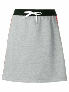 Miu Miu logo band short skirt - Grey