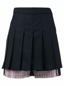 Thom Browne Pleated Bloomer Miniskirt - Blue