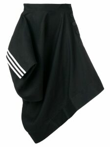 Y-3 asymmetric draped skirt - Black