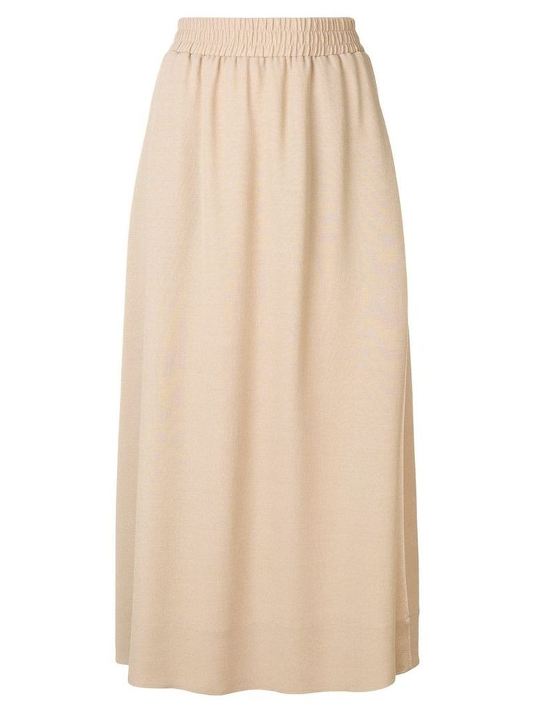 Agnona long full skirt - Brown