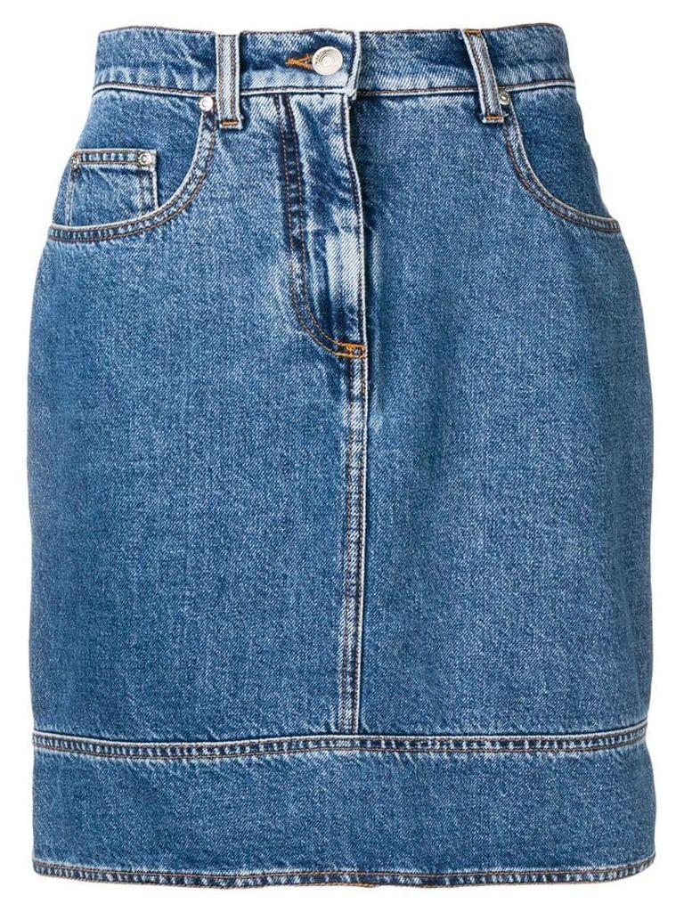 MSGM high-waisted skirt - Blue