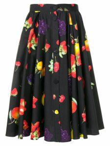 MSGM fruit print skirt - Blue