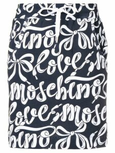 Love Moschino high waisted logo print skirt - Black