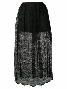 Paco Rabanne lace midi skirt - Black