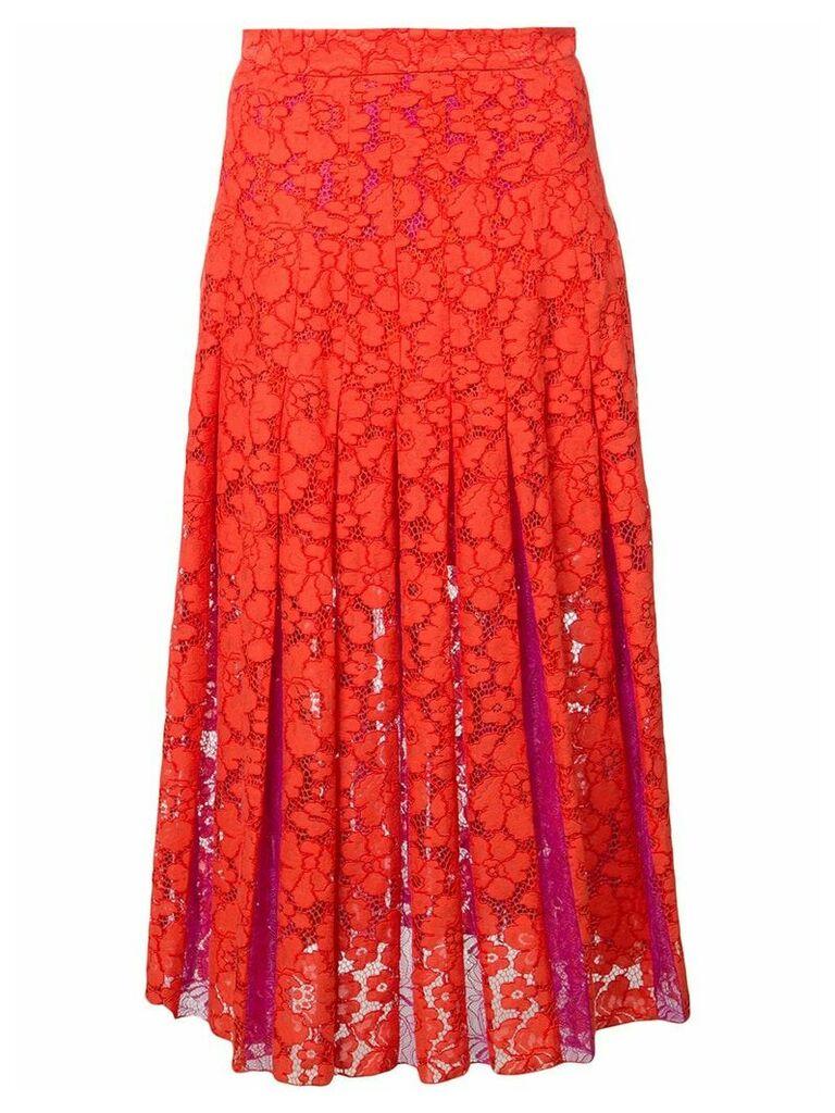 Dvf Diane Von Furstenberg floral lace embroidered skirt
